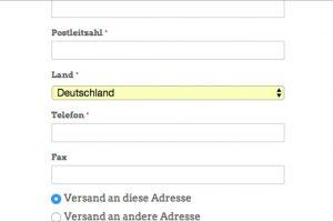 Magento Checkout: Telefon als optionales Feld
