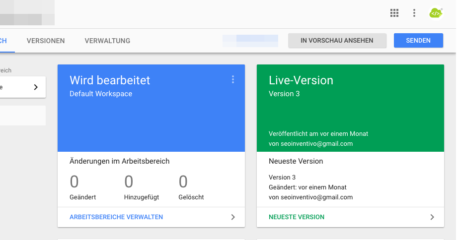 Google Tag Manager Container veröffentlichen