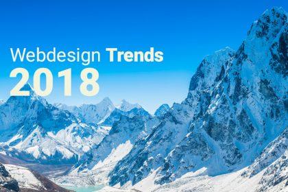 5Webdesign Trends für 2018