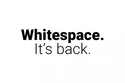 WebdesignTrend 2018: DerWhitespacekommt wieder