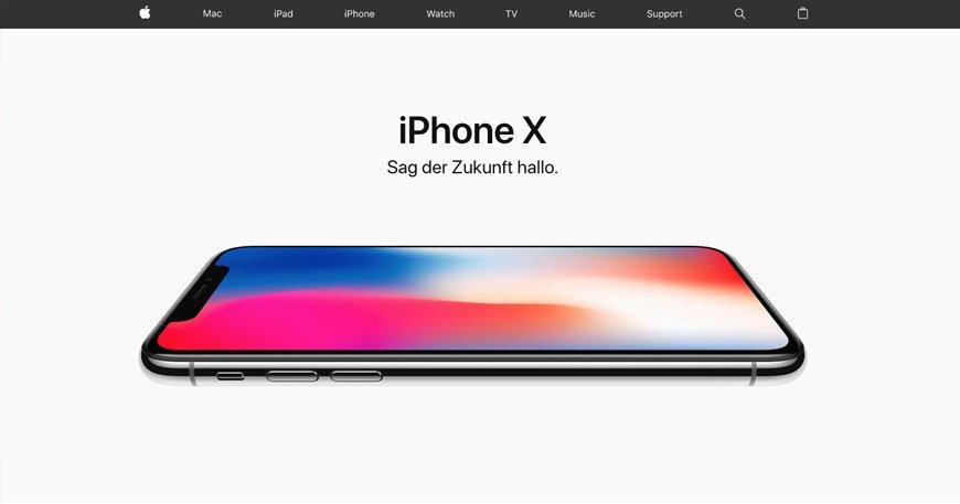 Whitespace am beispiel von apple.de
