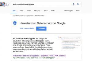 MitFeatured Snippetsin derGoogle Suche besser als Position 1