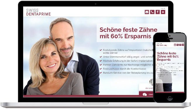 Dentaprime Webdesign und Website